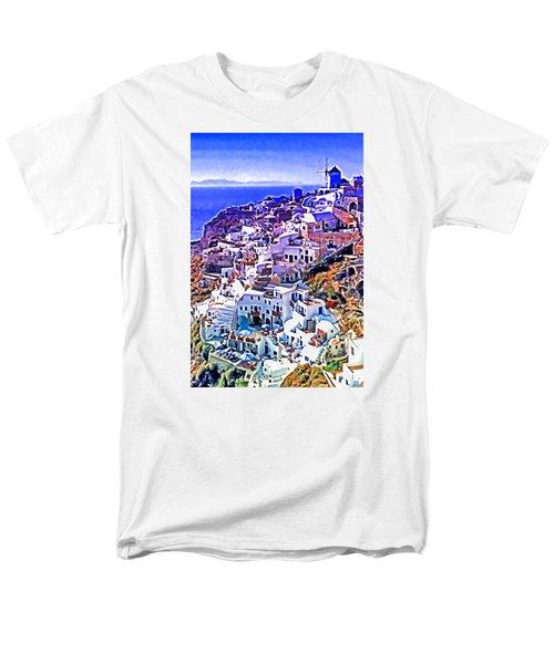 Oia Town On Santorini Men's T-Shirt  (Regular Fit) by Dennis Cox WorldViews