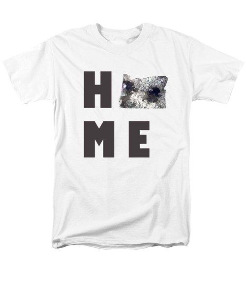 Oregon State Map Men's T-Shirt  (Regular Fit) by Marlene Watson