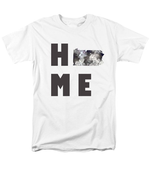Men's T-Shirt  (Regular Fit) featuring the digital art Pennsylvania State Map by Marlene Watson