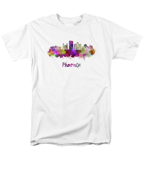 Phoenix Skyline In Watercolor Men's T-Shirt  (Regular Fit) by Pablo Romero