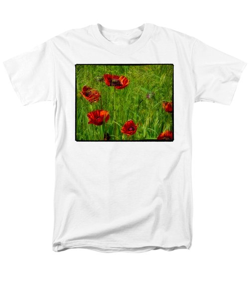 Poppies Men's T-Shirt  (Regular Fit) by Hugh Smith