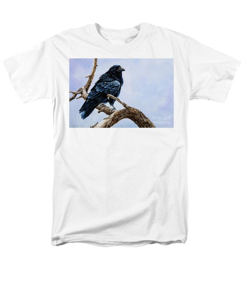 Men's T-Shirt  (Regular Fit) featuring the painting Raven by Igor Postash