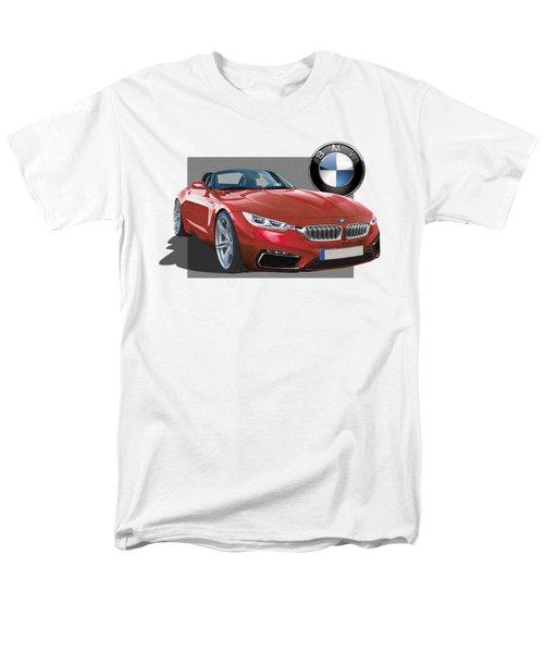 Red 2018 B M W  Z 5 With 3 D Badge  Men's T-Shirt  (Regular Fit) by Serge Averbukh
