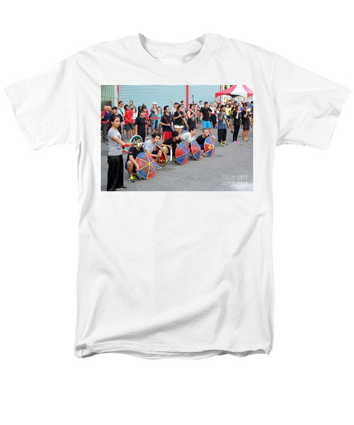 Men's T-Shirt  (Regular Fit) featuring the photograph Religious Martial Arts Performance In Taiwan by Yali Shi