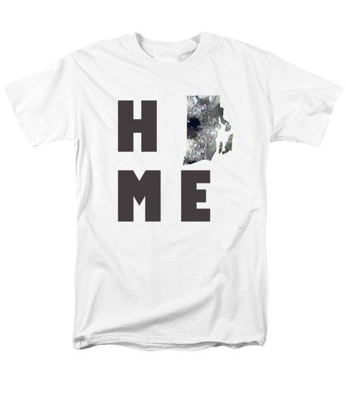 Men's T-Shirt  (Regular Fit) featuring the digital art Rhode Island State Map by Marlene Watson