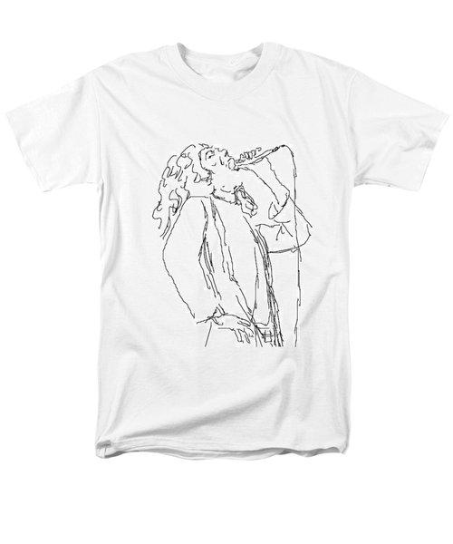 Robert Plant Men's T-Shirt  (Regular Fit) by Angela Murray
