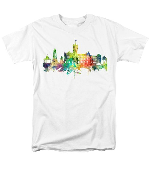 Rutherglen Scotland Skyline Men's T-Shirt  (Regular Fit) by Marlene Watson