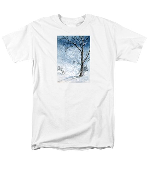 Snowy Night Men's T-Shirt  (Regular Fit) by Rebecca Davis