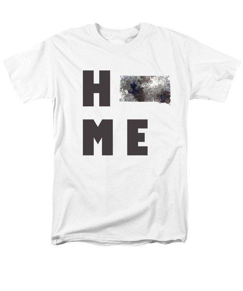 Men's T-Shirt  (Regular Fit) featuring the digital art South Dakota State Map by Marlene Watson