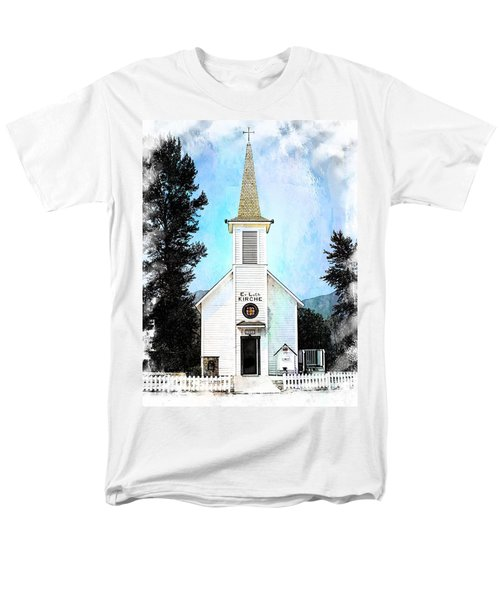 The Little White Church In Elbe Men's T-Shirt  (Regular Fit) by Joseph Hendrix