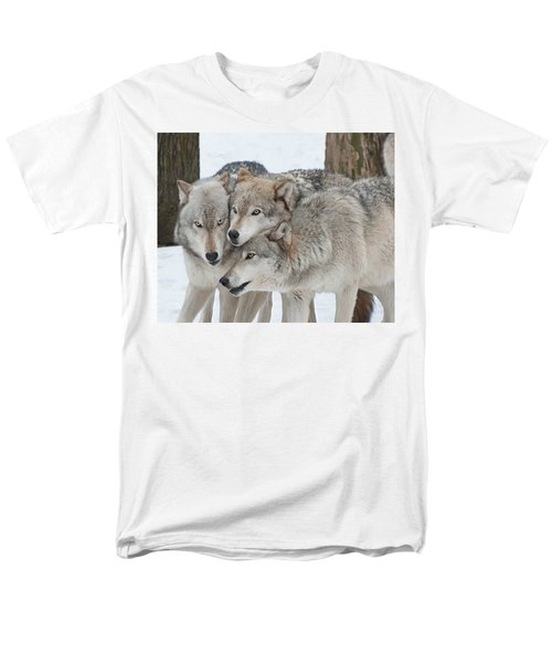 Three Wolves Are A Crowd Men's T-Shirt  (Regular Fit)