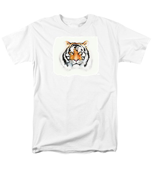 Men's T-Shirt  (Regular Fit) featuring the drawing Tiger by Brian Gibbs
