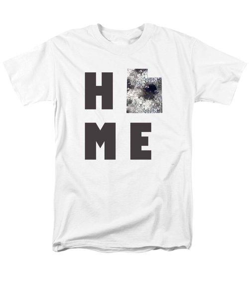 Men's T-Shirt  (Regular Fit) featuring the digital art Utah State Map by Marlene Watson