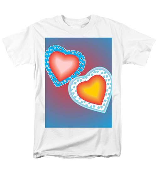 Men's T-Shirt  (Regular Fit) featuring the painting Valentine Lace by Sherril Porter