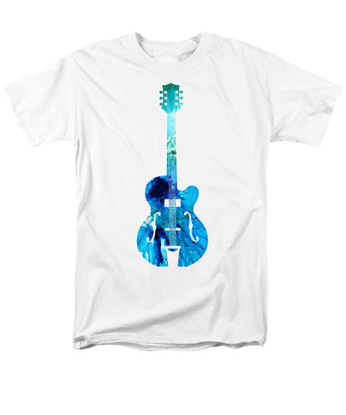Vintage Guitar 2 - Colorful Abstract Musical Instrument Men's T-Shirt  (Regular Fit) by Sharon Cummings