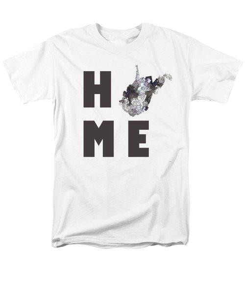 Men's T-Shirt  (Regular Fit) featuring the digital art West Virginia State Map by Marlene Watson