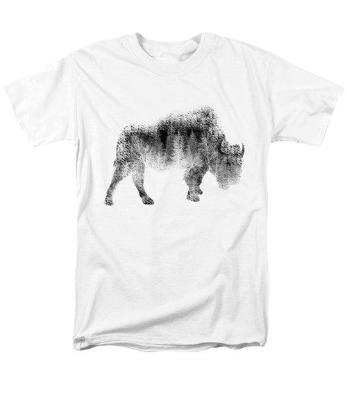 Wild Bison Men's T-Shirt  (Regular Fit) by Diana Van
