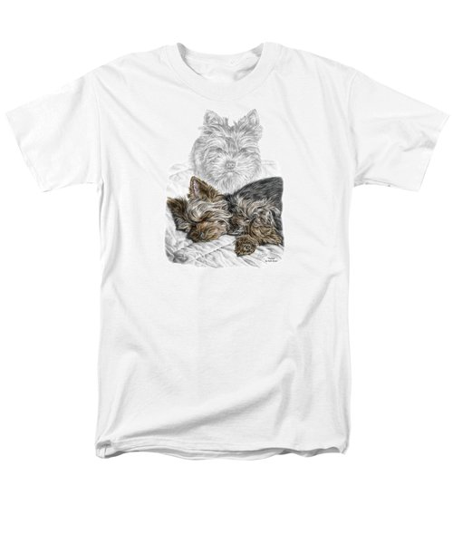 Yorkie - Yorkshire Terrier Dog Print Men's T-Shirt  (Regular Fit) by Kelli Swan