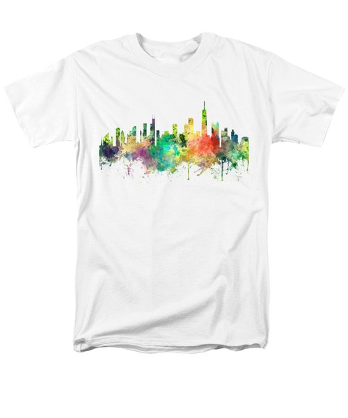 Chicago Illinois Skyline Men's T-Shirt  (Regular Fit)