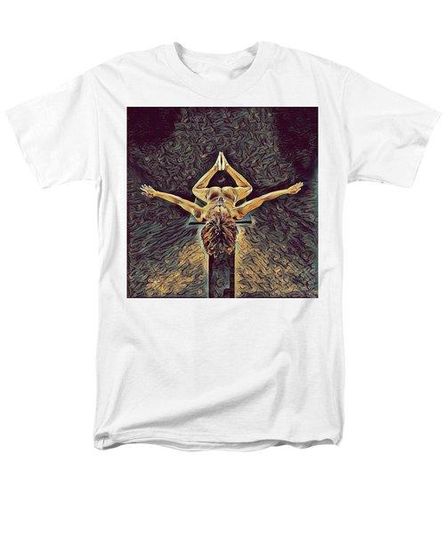 1038s-zac Dancer Flying On Pedestal Nudes In The Style Of Antonio Bravo  Men's T-Shirt  (Regular Fit)