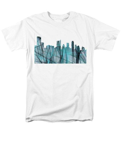 Austin Texas Skyline Men's T-Shirt  (Regular Fit) by Marlene Watson