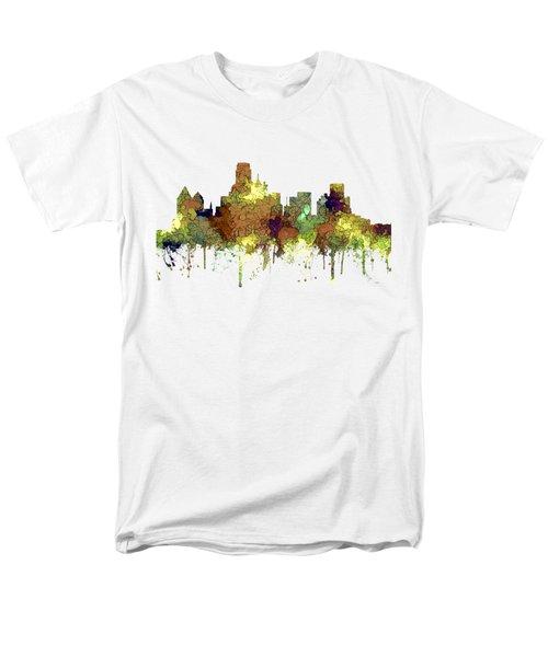 Dallas Texas Skyline Men's T-Shirt  (Regular Fit)