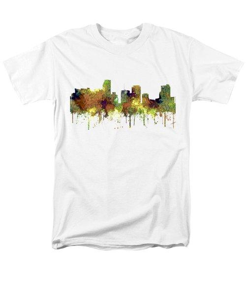 Miami Florida Skyline Men's T-Shirt  (Regular Fit) by Marlene Watson