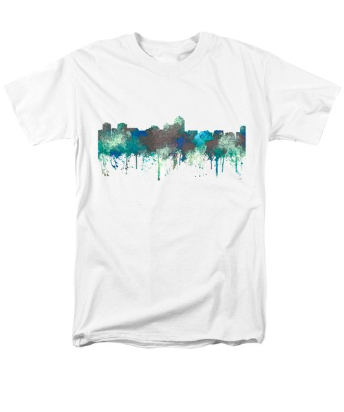Men's T-Shirt  (Regular Fit) featuring the digital art Albuquerque New Mexico Skyline by Marlene Watson
