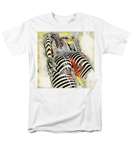 1457s-ak Rear View Nude Erotica In The Style Of Kandinsky Men's T-Shirt  (Regular Fit)