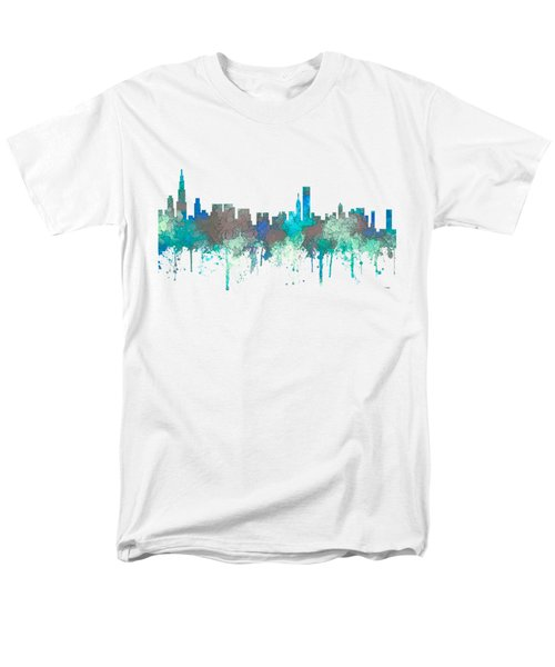 Men's T-Shirt  (Regular Fit) featuring the digital art Chicago Illinois Skyline by Marlene Watson