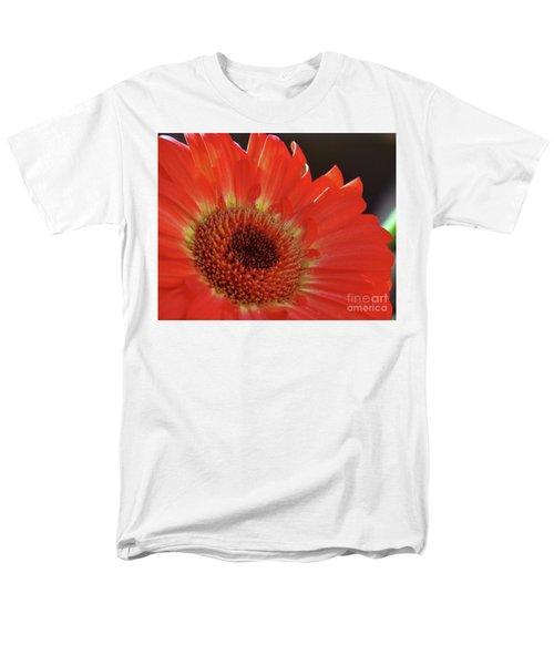 Men's T-Shirt  (Regular Fit) featuring the photograph Red Gerber by Elvira Ladocki