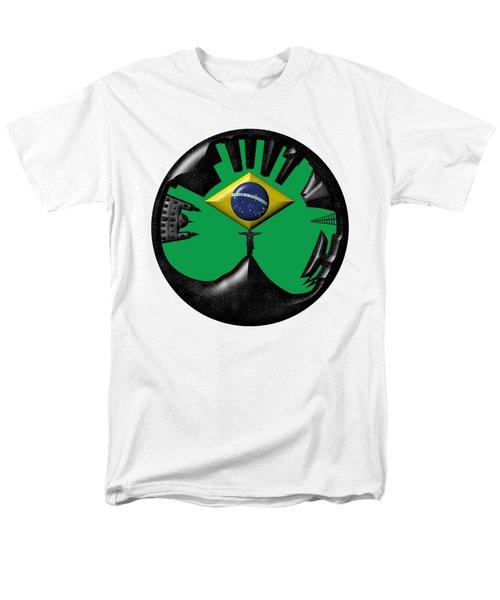 Rio De Janeiro Skyline Men's T-Shirt  (Regular Fit) by Michal Boubin