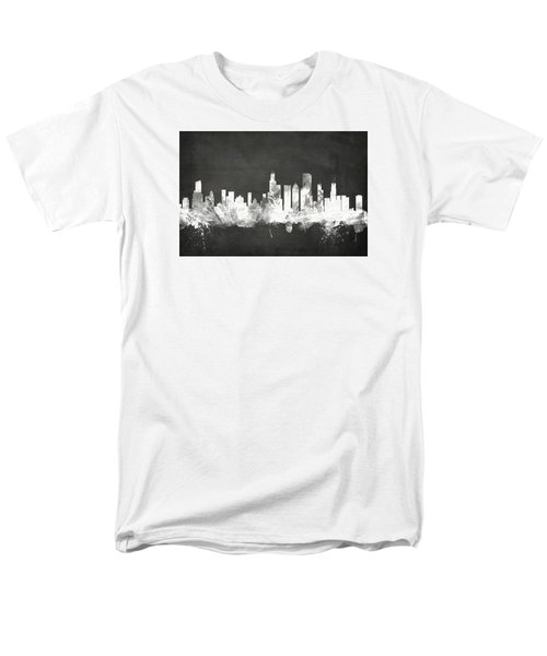 Chicago Illinois Skyline Men's T-Shirt  (Regular Fit) by Michael Tompsett