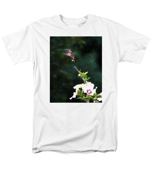 Men's T-Shirt  (Regular Fit) featuring the photograph Hummingbird by John Freidenberg