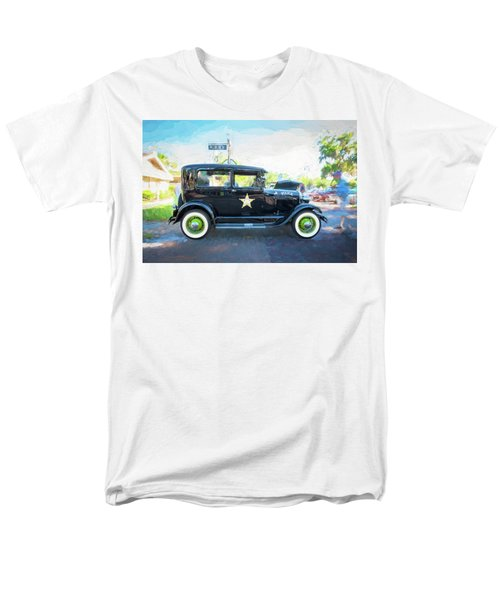 Men's T-Shirt  (Regular Fit) featuring the photograph 1929 Ford Model A Tudor Police Sedan  by Rich Franco