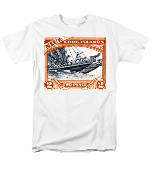 1932 Niue Island Stamp Men's T-Shirt  (Regular Fit) by Historic Image