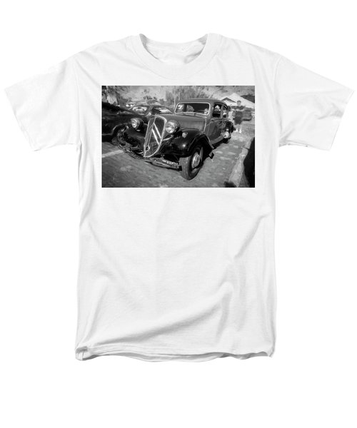 Men's T-Shirt  (Regular Fit) featuring the photograph 1953 Citroen Traction Avant Bw by Rich Franco