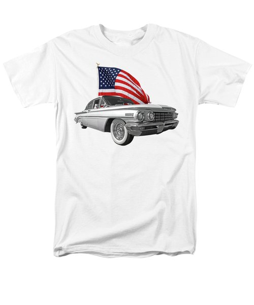Men's T-Shirt  (Regular Fit) featuring the photograph 1960 Oldsmobile With Us Flag by Gill Billington