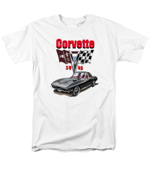 1963 Corvette With Split Rear Window Men's T-Shirt  (Regular Fit) by Thomas J Herring
