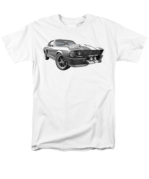 1967 Eleanor Mustang In Black And White Men's T-Shirt  (Regular Fit) by Gill Billington