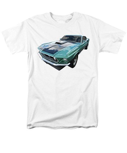 1969 Green 428 Mach 1 Cobra Jet Ford Mustang Men's T-Shirt  (Regular Fit) by Gill Billington