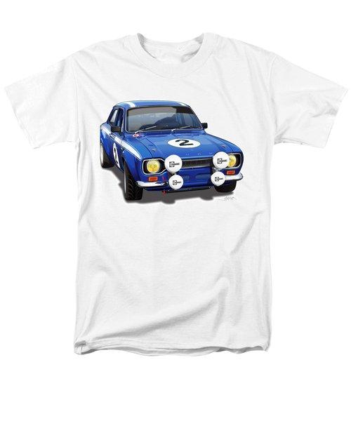 1970 Ford Escort Mexico Illustration Men's T-Shirt  (Regular Fit) by Alain Jamar