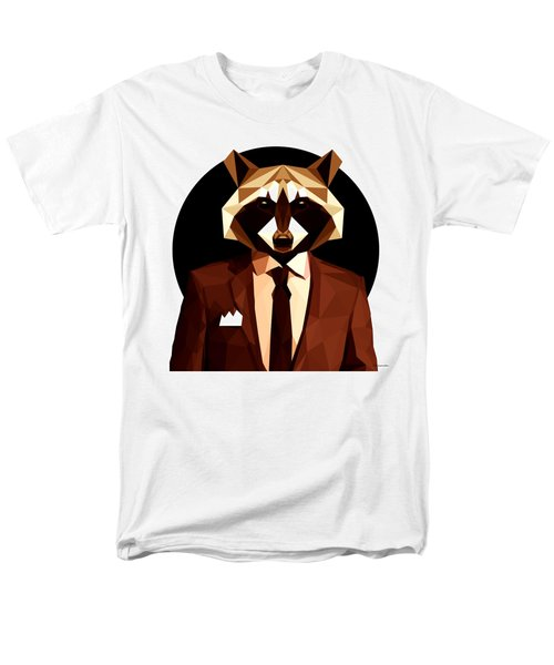 Abstract Geometric Raccoon Men's T-Shirt  (Regular Fit) by Gallini Design