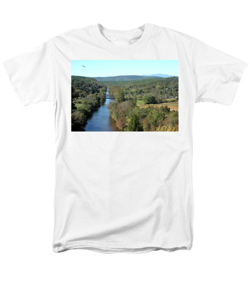 Autumn Landscape With Tye River In Nelson County, Virginia Men's T-Shirt  (Regular Fit) by Emanuel Tanjala