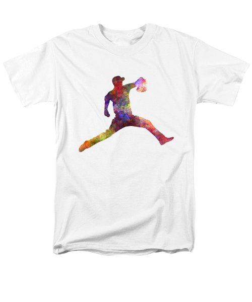 Baseball Player Throwing A Ball Men's T-Shirt  (Regular Fit) by Pablo Romero