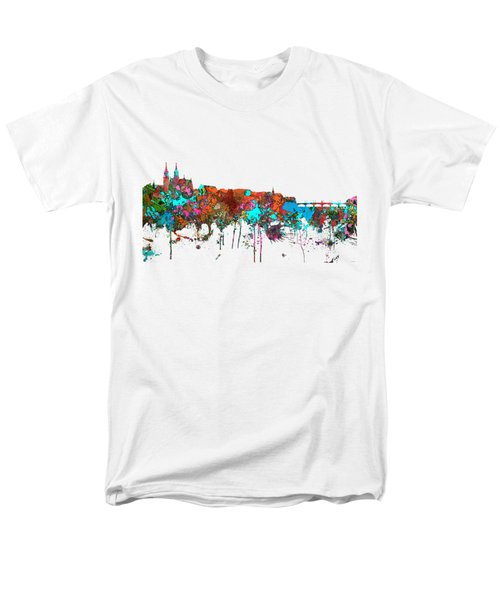 Basle Switzerland Skyline Men's T-Shirt  (Regular Fit) by Marlene Watson