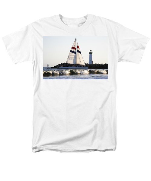 2 Boats Approach Men's T-Shirt  (Regular Fit) by Marilyn Hunt