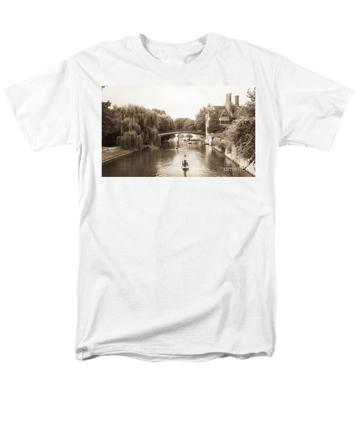 Men's T-Shirt  (Regular Fit) featuring the photograph Cambridge River Punting by Eden Baed