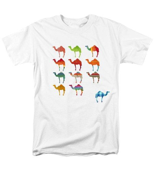 Camels Men's T-Shirt  (Regular Fit) by Art Spectrum