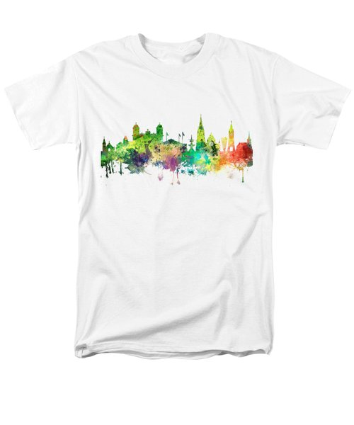 Christchurch Nz Skyline Men's T-Shirt  (Regular Fit)